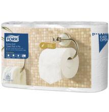TORK 110405 Extra Soft toalettpapír, 4 rétegű, hófehér (6 tekercs/csomag)