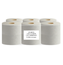 ATLANTIC mini 19 cm-es toalettpapír, 2 rét. 80% fehér