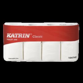 KATRIN TOTI Classic 200 toalettpapír, 2 rétegű, fehér (8 tekercs/csomag)