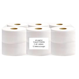ATLANTIC mini 19 cm-es toalettpapír, 3 rétegű, hófehér