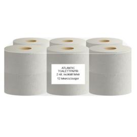 ATLANTIC mini 19 cm-es toalettpapír, 2 rétegű, 80% fehér