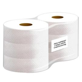 ATLANTIC maxi 26 cm-es toalettpapír, 2 réegű, hófehér