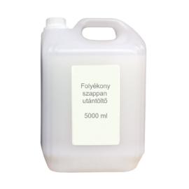 Folyékony szappan utántöltő, 5 liter, fehér