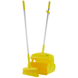 Porfogókészlet, seprűvel, zárható, 370 mm, közepes
