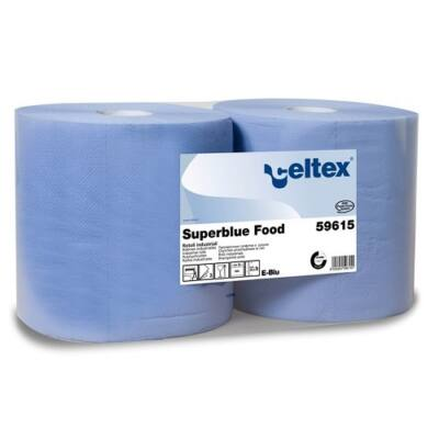 CELTEX 59615 Superblue food ipari tőrlő, 3 rét. kék