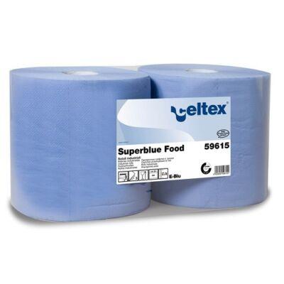 CELTEX 59615 Superblue food ipari tőrlő, 3 rét. kék