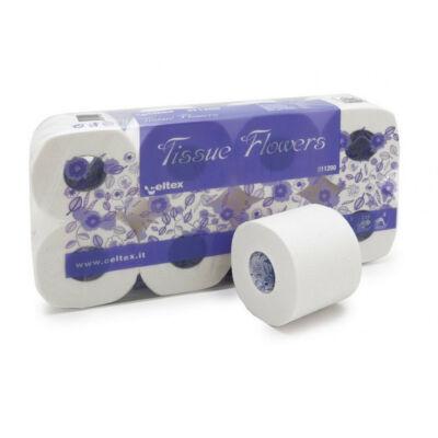 Celtex Tissue Flower toalettpapír - 3 rétegű, hófehér (8 tekercs/csomag)