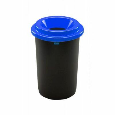 Plafor Eco kerek henger szemetes, fekete/kék, 50 literes