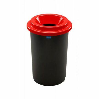 Plafor Eco kerek henger szemetes, fekete/piros, 50 literes