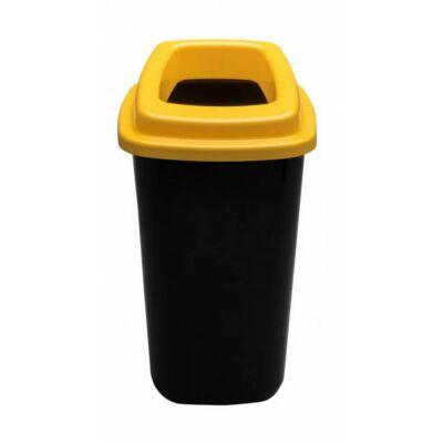 Plafor Sort hulladékgyűjtő szemetes, fekete/sárga, 45 literes
