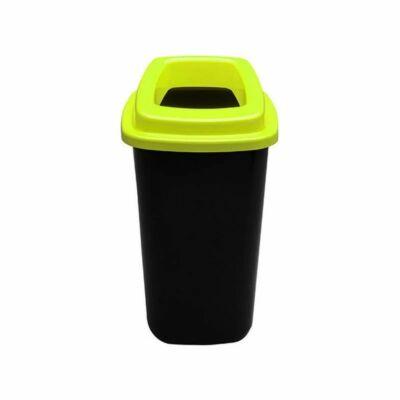 Plafor Sort hulladékgyűjtő szemetes, fekete/zöld, 45 literes