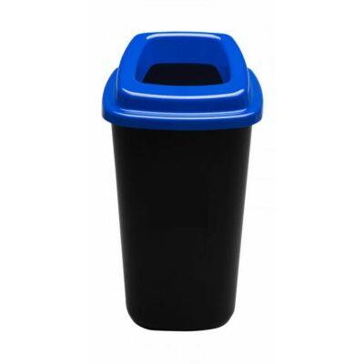 Plafor Sort hulladékgyűjtő szemetes, fekete/kék, 45 literes