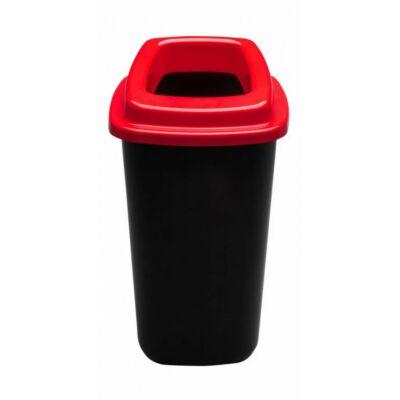 Plafor Sort hulladékgyűjtő szemetes, fekete/piros, 45 literes