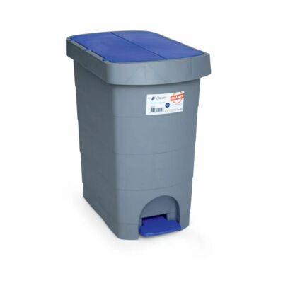 Pelikán Slim hulladékgyűjtő, pedálos, kék fedéllel, 60 literes
