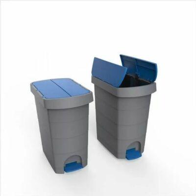 Kép 2/2 - Pelikán Slim hulladékgyűjtő, pedálos, kék fedéllel, 60 literes