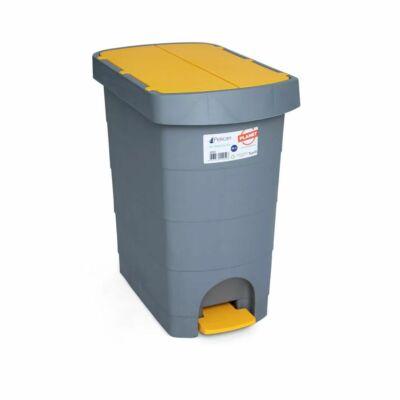 Pelikán Slim hulladékgyűjtő, pedálos, sárga fedéllel, 60 literes