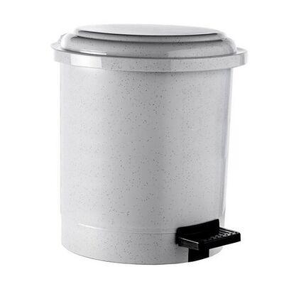 Műanyag szemeteskuka, 6 literes, pedálos