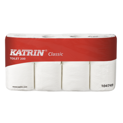 KATRIN TOTI Classic 200 toalettpapír, 2 rét. fehér