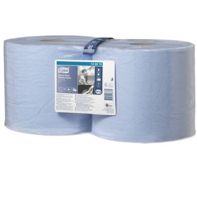 TORK 130072 ipari papírtörlő, 2 rét. kék