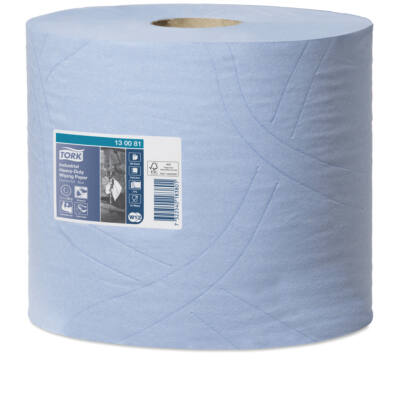 TORK 130081 ipari papírtörlő, 3 rét. kék