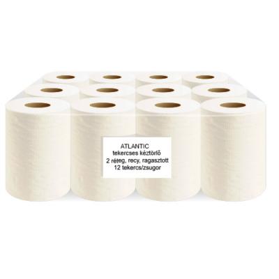 ATLANTIC kitekercses kéztörlőpapír, 80% fehér
