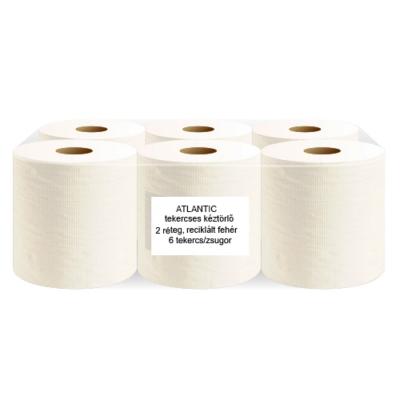 ATLANTIC nagytekercses kéztörlőpapír, 80% fehér