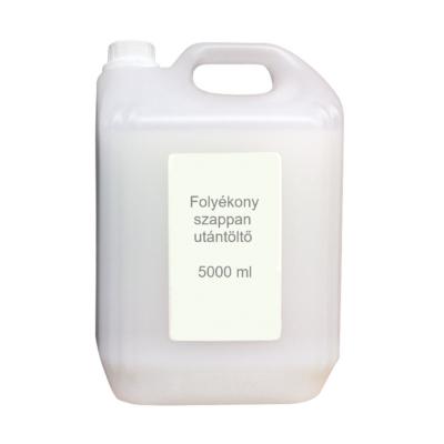 Folyékony szappan utántöltő, 5 ltr, fehér